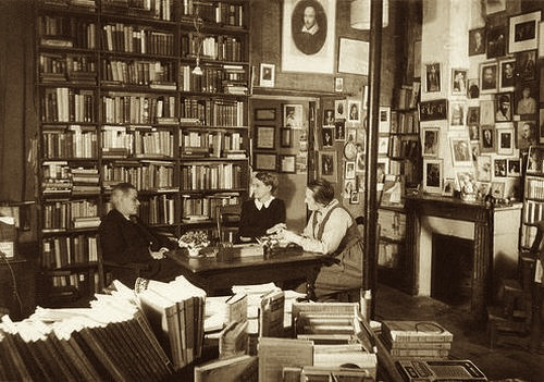 Image result for shakespeare and company james joyce