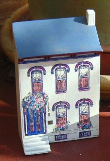 A miniature of the house Gertrude was born in at 850 Beech Ave., Allegheny, PA.