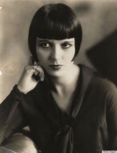 Silent movie star Louise Brooks working her bob