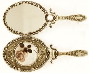 Vintage-folding-carry-on-makeup-mirror-vanity-mirror-handle-handheld-mirror